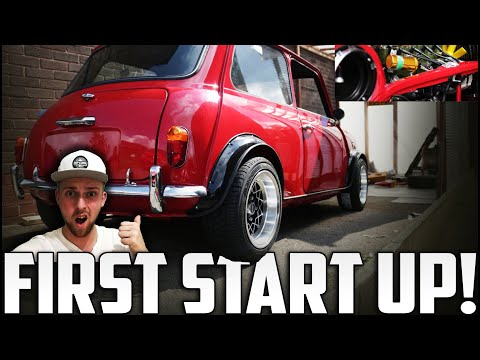 Classic Mini Restoration | FIRST ENGINE START UP!   *IN 2 YEARS*