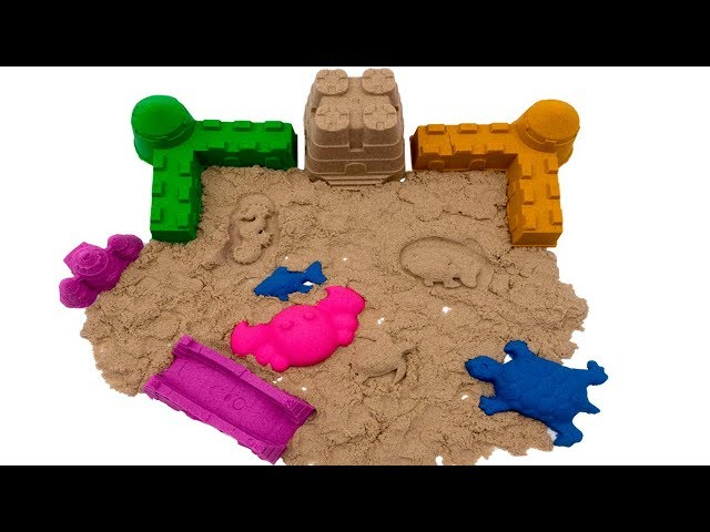 DIY How to make Kinetic Sand Castle with Play Doh | Learn Colors with Play-Doh |