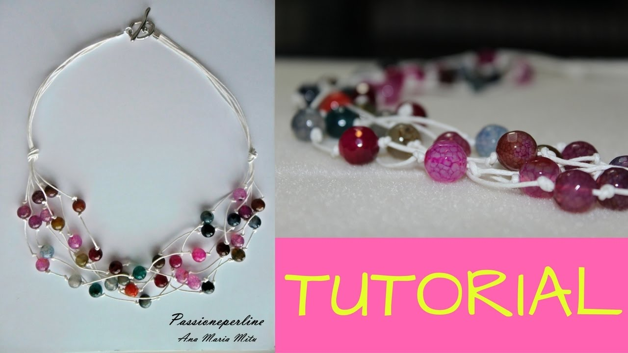 Diy Tutorial Come Fare Una Collana Multifilo Con Pietre Dure