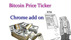 Bitcoin Price Ticker chrome add on