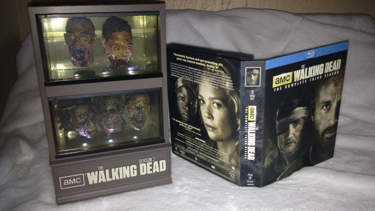 The Walking Dead Season 3 Governors Zombie Head Fish Tank Blu Ray Unboxing 2017 You