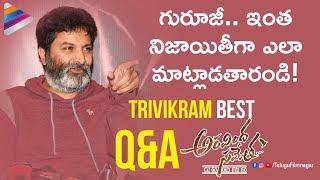 Trivikram Superb Answers to Media   Aravindha Sametha Success Meet   Jr NTR   Telugu FilmNagar