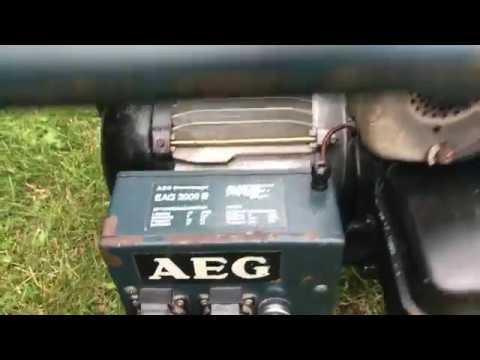 aeg notstromaggregat stromerzeuger eag 2000 b mit briggs stratton motor bj 1986 war defekt. Black Bedroom Furniture Sets. Home Design Ideas