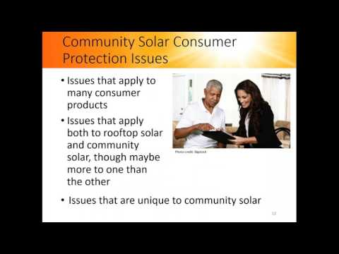 Consumer Protections for Community Solar (6.22.2017)