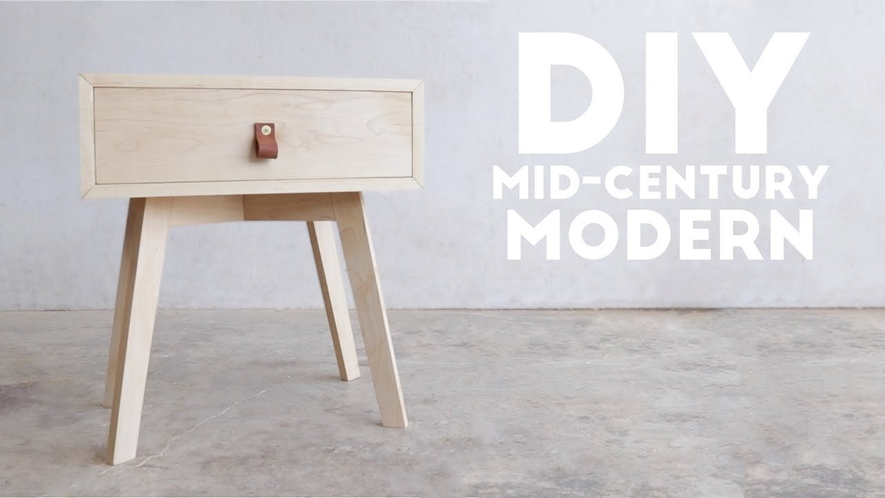 DIY Mid Century Modern Side Table / End Table