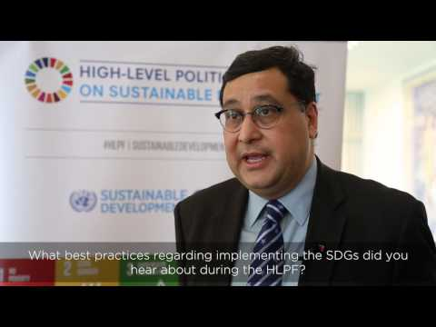 Interview on High-level Political Forum 2016 with Adil Najam