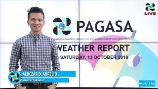Public Weather Forecast Issued at 4:00 PM October 13, 2018