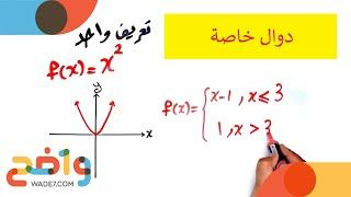 1-3: دوال خاصة (رياضيات ثاني ثانوي/ الفصل الأول)