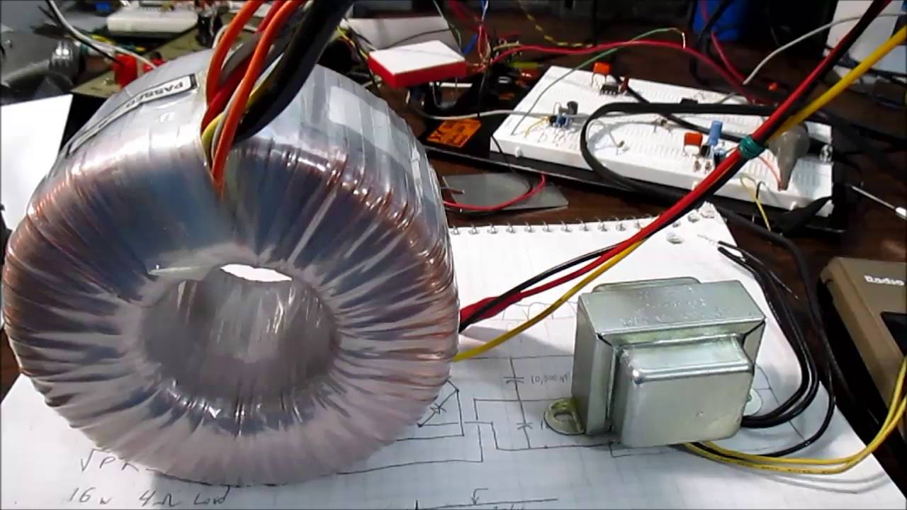 selecting power transformer for audio amplifier [ 1280 x 720 Pixel ]