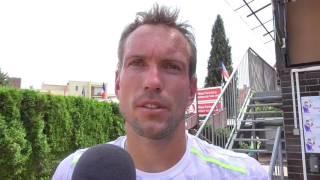Jan Mertl po výhře v 1. kole na turnaji Futures v Pardubicích