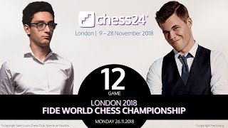 Caruana-Carlsen Game 12 - 2018 FIDE World Chess Championship