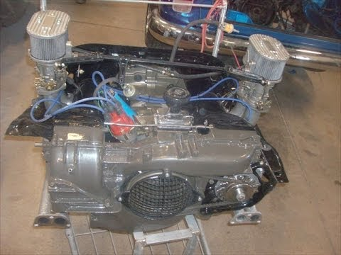 Classic vw bus motor rebuilt by youtube Vw crate motor