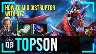 Topson - Disruptor | HOW TO MID DISRUPTOR with RTZ (Arc Warden) | Dota 2 Pro MMR Gameplay