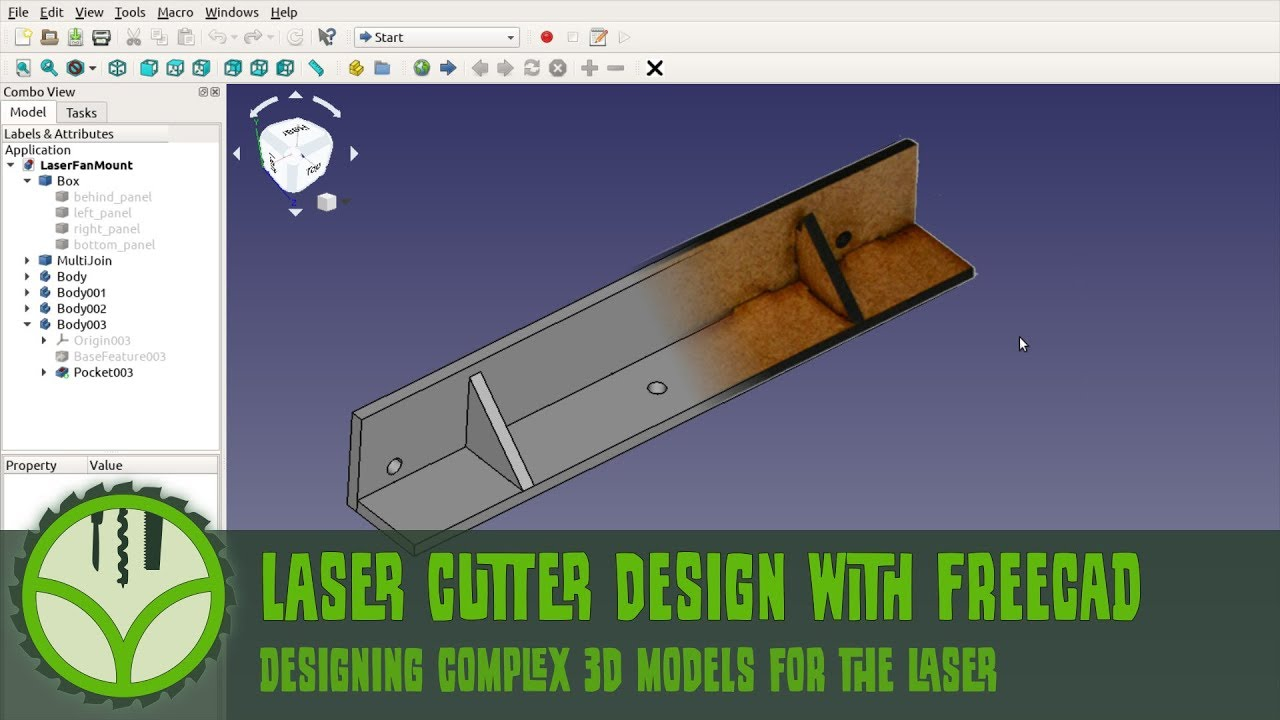 Laser cutting CAD design with FreeCAD - Way of Wood