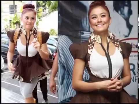 model batik artis  koleksi baju batik  baju batik artis terbaru