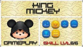 Line Disney Tsum Tsum - King Mickey SL6 Gameplay