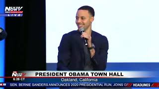 PRESIDENT OBAMA TOWN HALL: Speaks with basketball superstar Steph Curry in Oakland, CA (FNN)