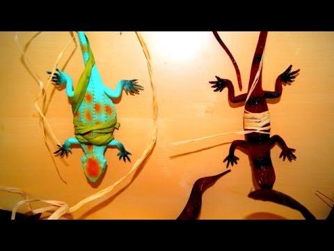 Животные. Крокодил и ящерицы. Игрушки. Мультик для детей.