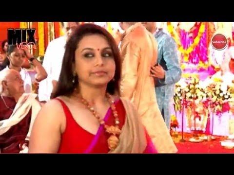 Rani Mukherjee Tiny Tight Blouse@ Durga Puja thumbnail