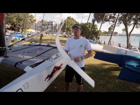 2014 A-Class Worlds - Nathan Outteridge Explains Foiling A-C