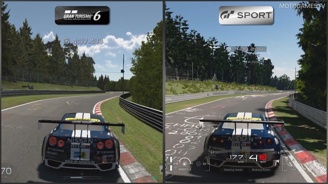 Gran Turismo 6 Vs Gran Turismo Sport Beta Nissan Gt R Nismo Gt3 At