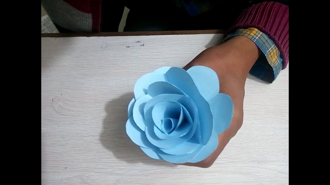 How To Make A Paper Rose Flower  Easy And Simple  Money Guru
