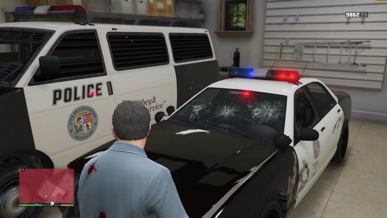 GTA 5| cum să fii un polițist + cum să repari o mașină de poliție
