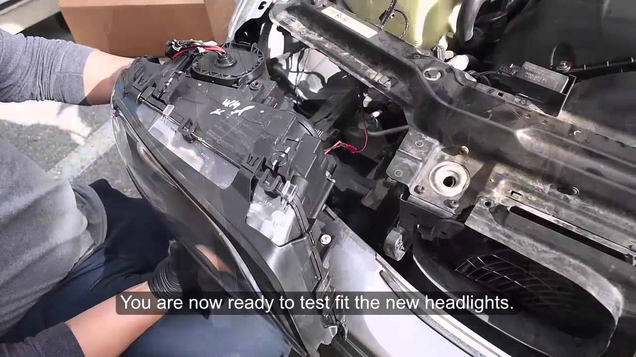 USR 04-06 BMW E46 2D DEPO Headlight Installation - YouTube