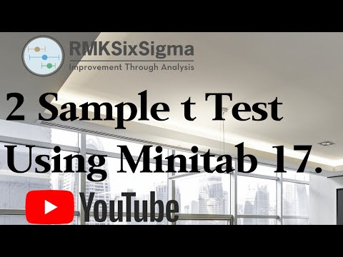 How to conduct a 2 sample t Test using Minitab 17.