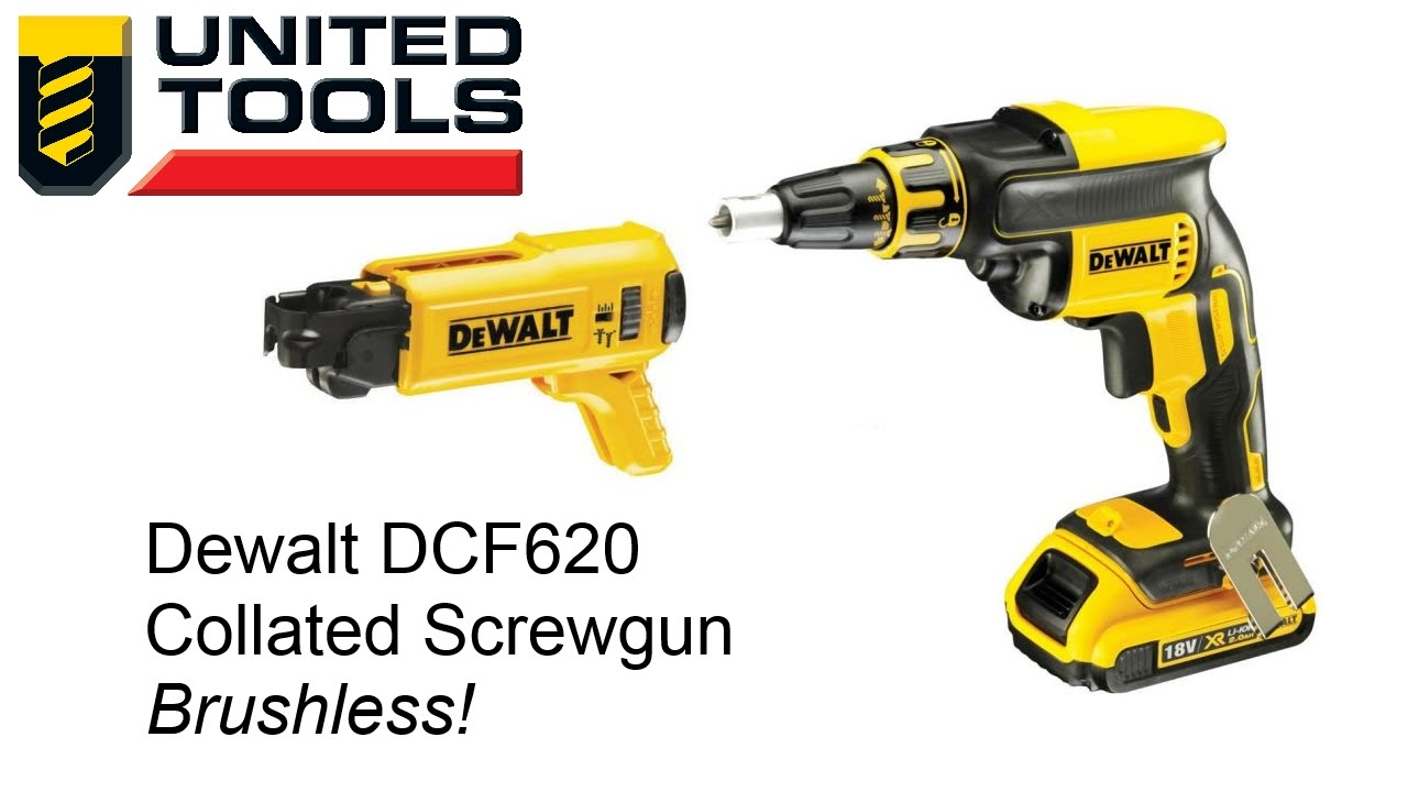 Dewalt Brushless Gun Dcf620 W Autofeed Collated Attachment Dcf6201