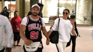 Ranveer Singh & Deepika Padukone Spotted at the Airport