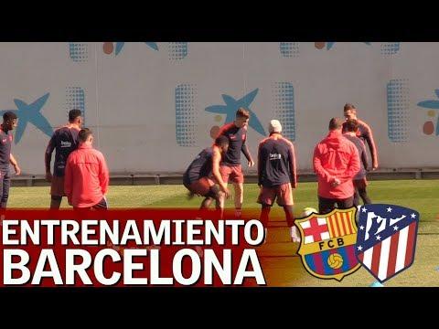 Barcelona-Atlético | Entrenamiento completo del FC Barcelona | Diario AS