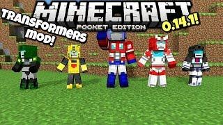 [0.14.1] Minecraft PE - BECOME A AUTOBOT OR DECEPTICON!! - Transformers Mod Showcase