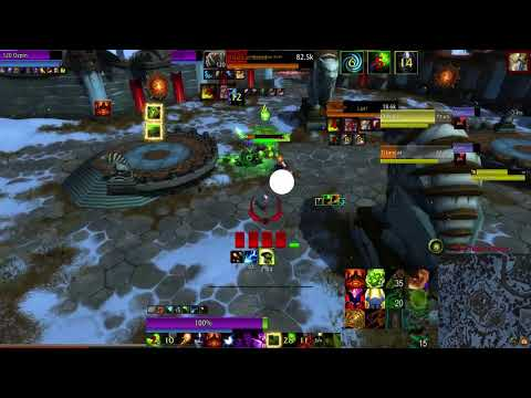Warlock PVP in Arena: Destruction and Affliction 2s - World of Warcraft Battle for Azeroth