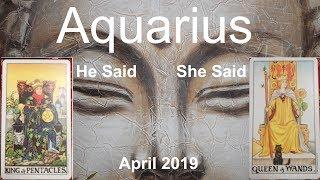 Aquarius APRIL 2019 He Said She Said DROPPING THE DEVIL? Tarot Reading thumbnail