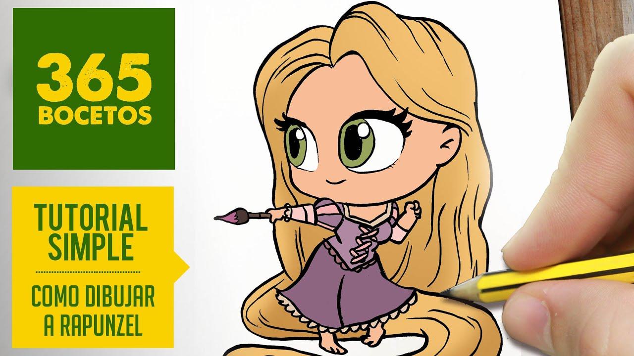 COMO DIBUJAR A RAPUNZEL : Dibujar princesas disney en español ...