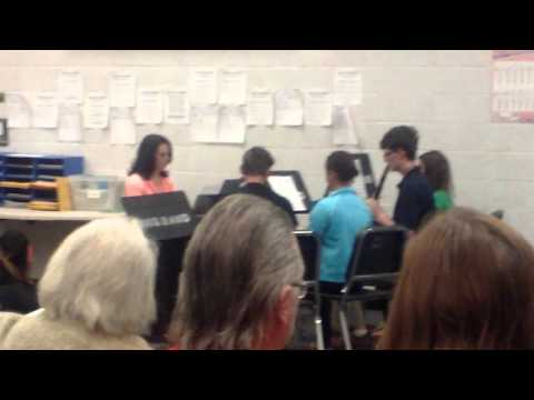 Bradford Middle School Solo & Ensemble practice