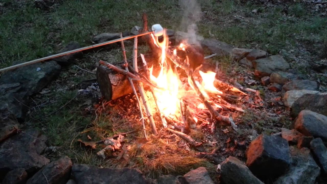 Roasting Marshmallows On The Campfire