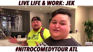 LIVE LIFE & WORK: NITRO COMEDY TOUR ATL! LOL FUNNY LAUGH COMEDIANS