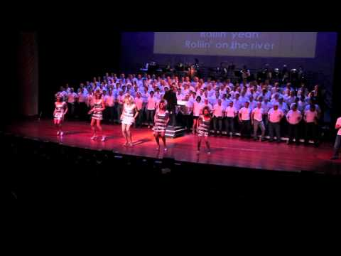 "New York City Gay Men's Chorus Performs ""Proud Mary"" At Big Gay Sing 4"
