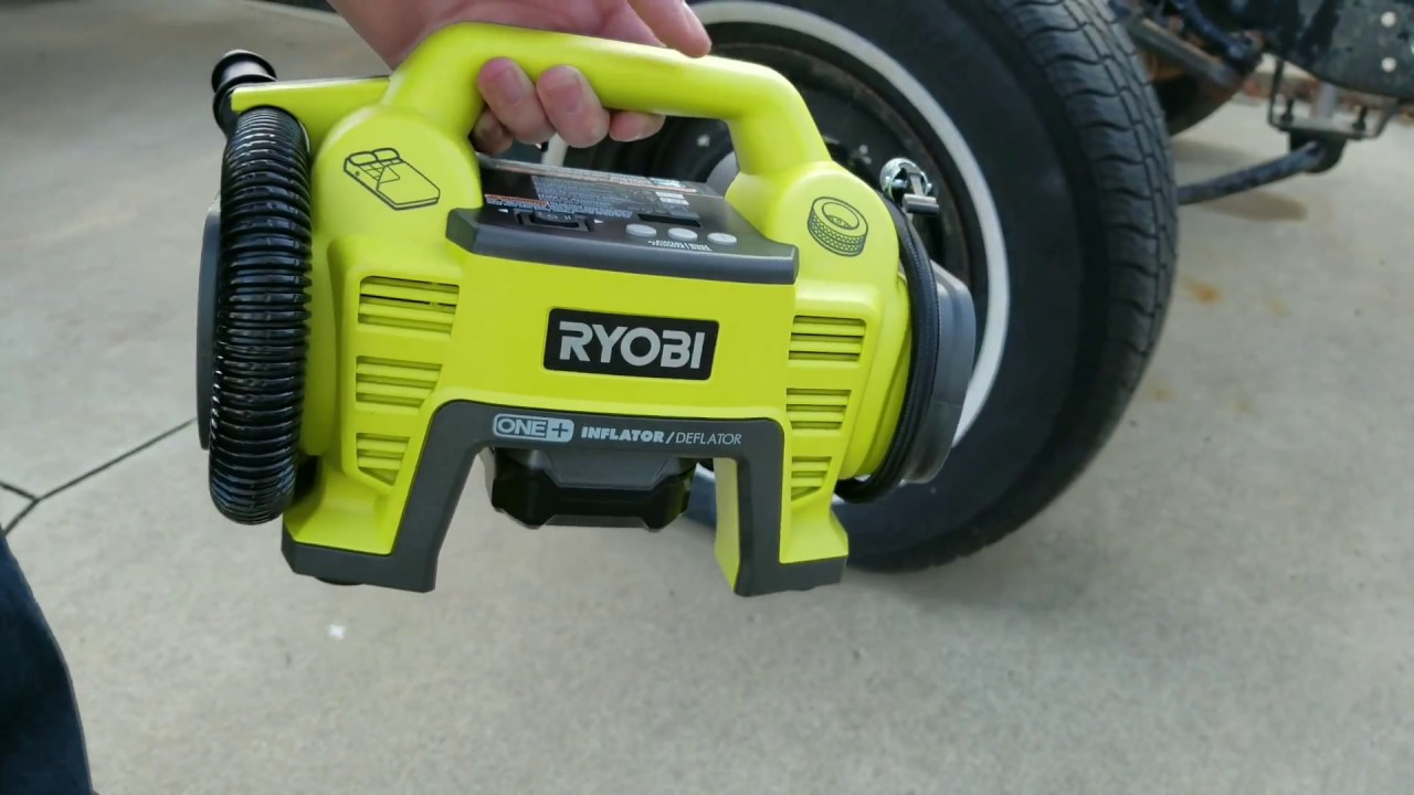 ryobi 18volt one+ dual function inflator/deflator - review and test