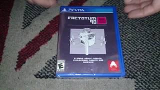 Nostalgamer Unboxing Factotum 90 On Sony Playstation Vita PSV Limited Run Games Region Free