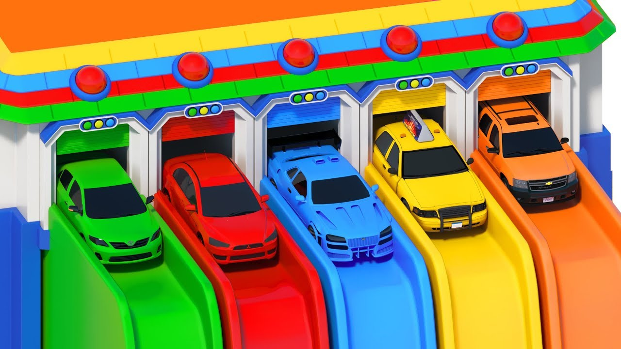 We are in the Car Wheels On The Bus Song. Learn Colors With Toy Cars. Nursery Rhymes & Kids Songs