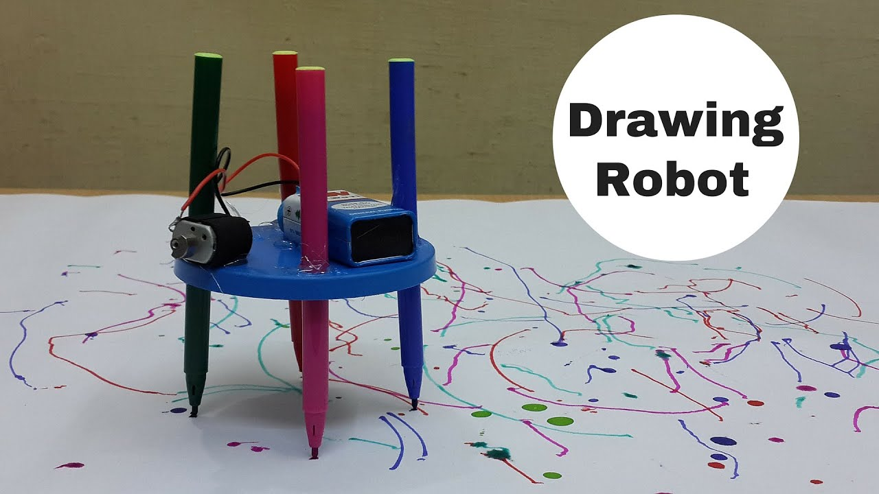 how to make a simple drawingscribbling robot at home youtube