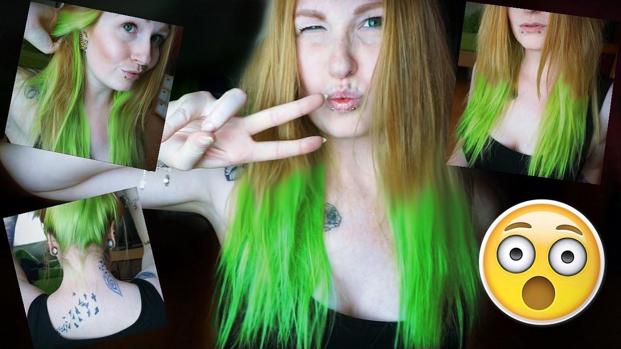 Haare Neon Grun Tonen Manic Panic Electric Lizard Youtube