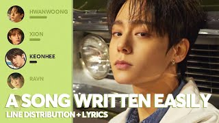 Cover images ONEUS - A Song Written Easily (Line Distribution + Lyrics)