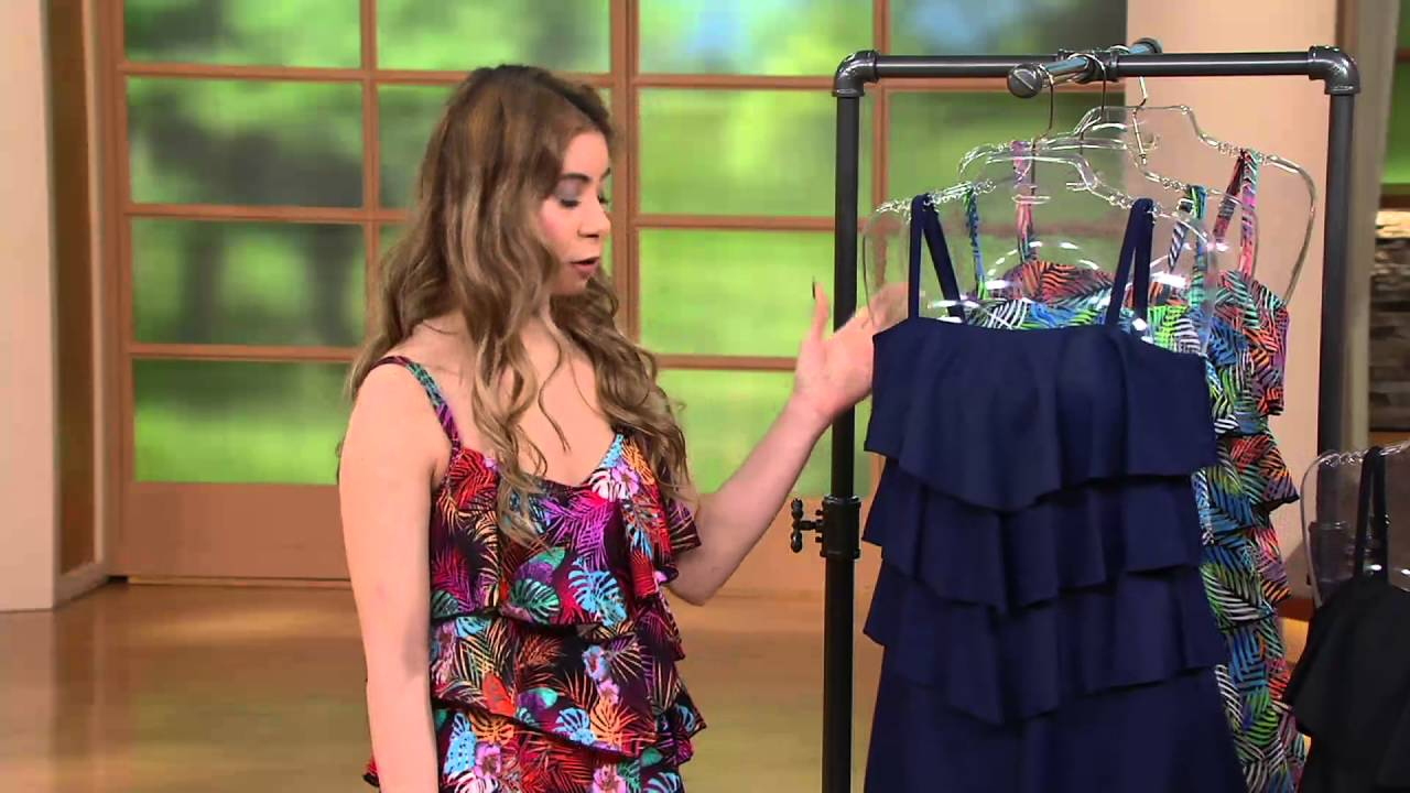 fdc6ac5d576 Fit 4 U Bandeau V-Tiered Romper Swimsuit on QVC - YouTube