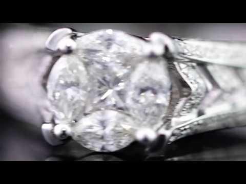 Роскошное помолвочное кольцо с бриллиантами. САНЛАЙТ!