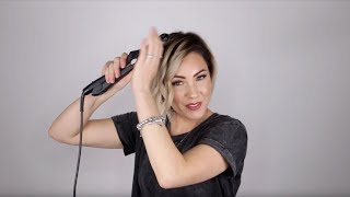 Aveda How-To | Sleek Accent Curl Tutorial for Short Hair with Chloe Brown