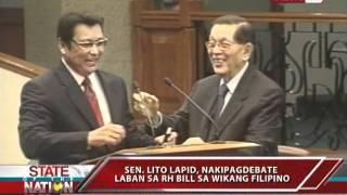 SONA: Sen. Lito Lapid, Filipino ang ginamit sa Senate debate